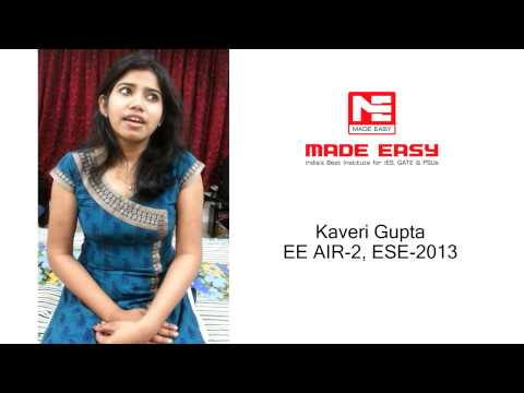 Kaveri Gupta, EE AIR 2, ESE 2013 MADE EASY Classroom Study Course Student