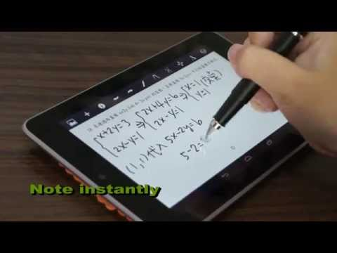 DAGi stylus P508 demo on Google Nexus7 take notes