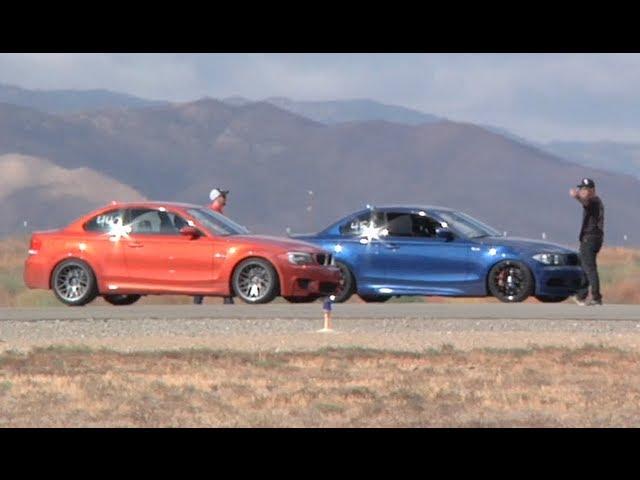 450 HP BMW 135i vs 440 HP BMW 1M Coupe Half Mile ... - YouTube
