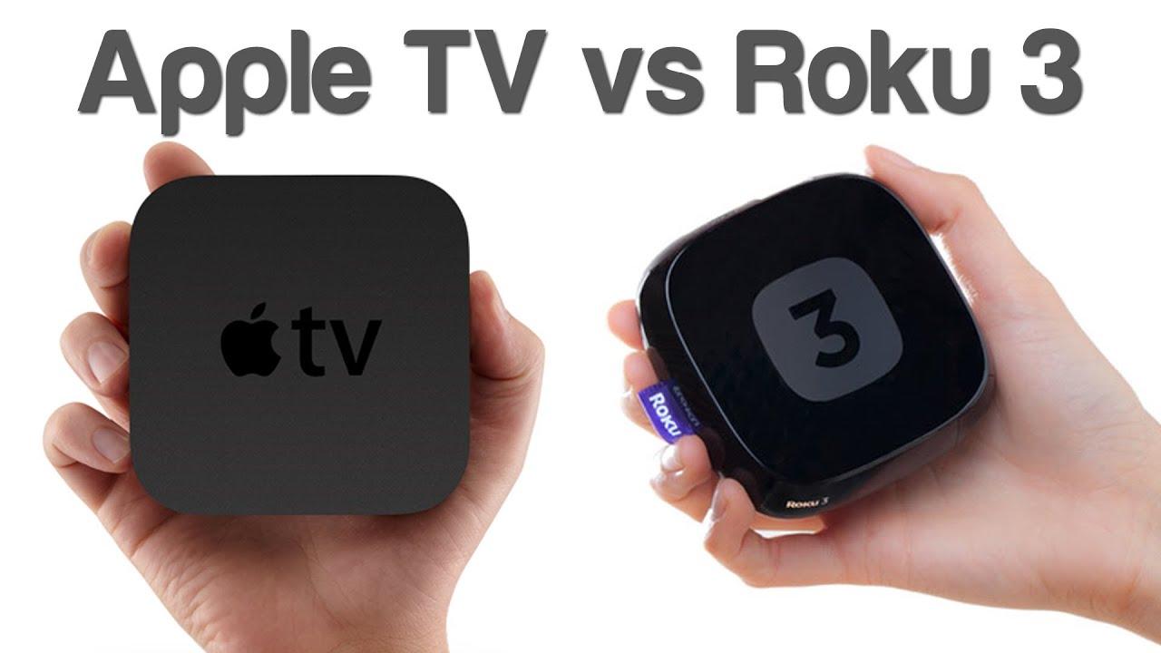 apple tv vs roku 3 youtube. Black Bedroom Furniture Sets. Home Design Ideas