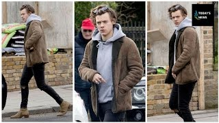 Harry Styles leaves recording studio in London after getting back to his day job following movie rol