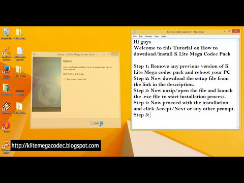 K Lite Mega Codec Pack 64/32 bit Free Download|Full Latest Version|Windows|2014