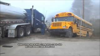 Raw: The Battle Creek bus crash site