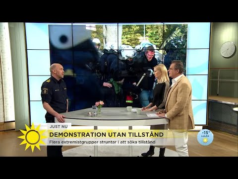 Flera extremistgrupper struntar i att söka tillstånd - Nyhetsmorgon (TV4)