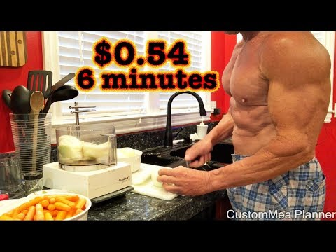 6 minute high protein healthy meal for 54 cents!
