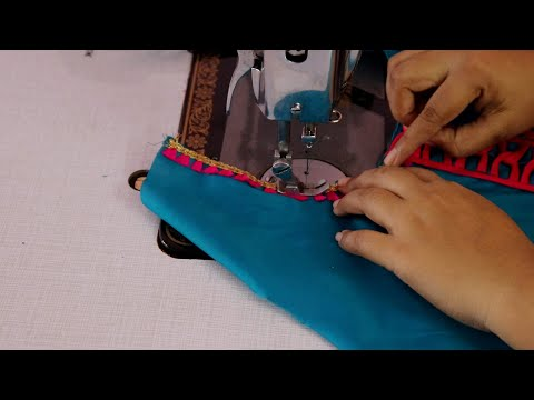 fancy neck design cutting and stitching