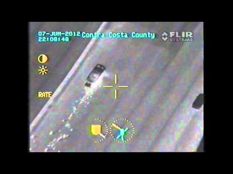 Contra Costa Sheriff's Office Helicopter - Video of Pursuit - Suspect Vehicle on Rims