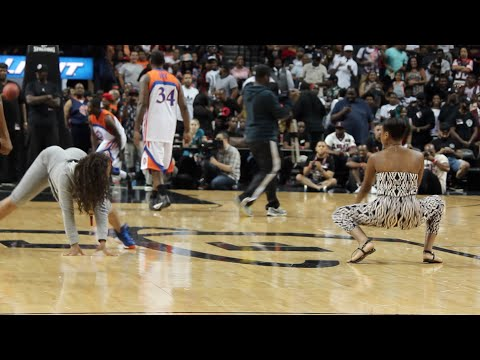 Teyana Taylor Reacts To Twerk Contest At Ebc Celebrity Basketball Challenge video