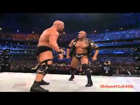 The Rock Vs. Stone Cold Steve Austin Highlights - Hd Wrestlemania 19. video