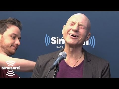 James McAvoy Punches Hugh Jackman, Massages Patrick Stewart // SiriusXM