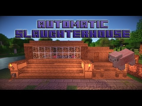 Minecraft Automatic Slaughterhouse Tutorial (Survival)