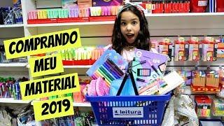 COMPRANDO MEU MATERIAL ESCOLAR 2019 | Eloah