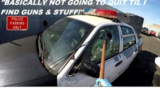 Breaking Into Police Car Looking For Guns Ford Crown Victoria Interceptor Round 2