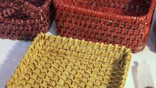 How to weave a rectangular basket