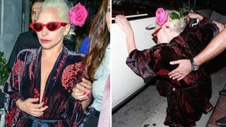 Lady Gaga Falls Down While Getting Into Her Car (LEAKED VIDEO)