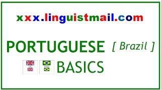 English Brazilian Portuguese basic words expressions sentences