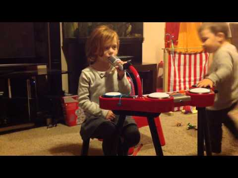 3 Year Old Girl Manchester United Chant Kicking A Blue video