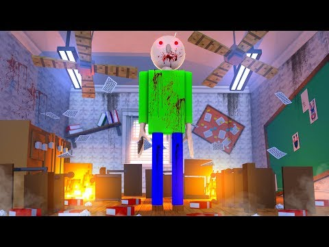 Roblox Baldi's Basics BALDI DESTROYS HIS SCHOOL! (Baldi's Basics Game)