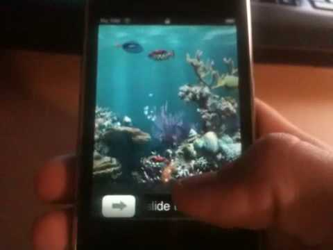 Avoir un aquarium sur le Lock Screen de son iTouch, iPhone 3.0 ou plus !