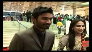 Dhanush And Aishwarya At SIIMA Awards In Dubai
