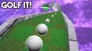 MEGA RAMPA INCREIBLE! - GOLF IT  from DaniRep Golf it y fortnite diario!