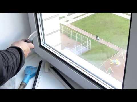 Установка стекол в окна своими руками