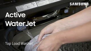 01. How to prewash garments with the Active WaterJet on your Top Load Washing Machine | Samsung US