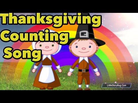 Thanksgiving Counting Songs For Kids - Turkey Gobble Song - Littlestorybug video