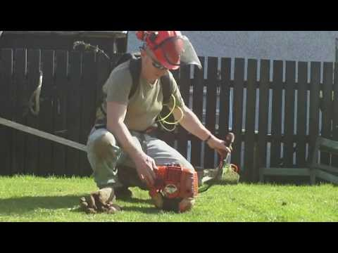 ECHO SRM 4000 2 STROKE PETROL STRIMMER WEED WHACKER START