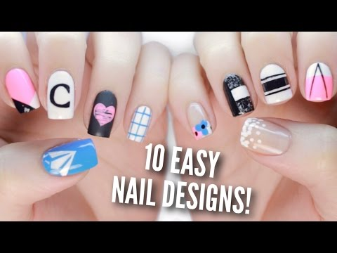 10 Back To School DIY Nail Designs! | Easy Nail Art!