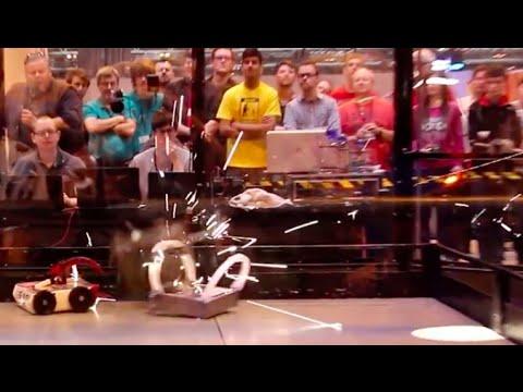 RC Combat Robot Wars – Little Hitter v Mr Mangle v Rever – FRA Q7 – 2015 RC World Championships