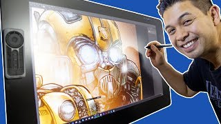 Bumblebee Movie Poster in FULL COLOR, Unboxing a Wacom Cintiq Pro 32 and a ROSSDRAWS Parody!