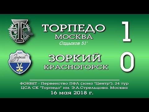 Торпедо (Москва) - Зоркий (Красногорск) 1:0. Обзор матча