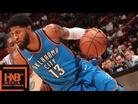 Oklahoma City Thunder vs Miami Heat Full Game Highlights / April 9 / 2017-18 NBA Season