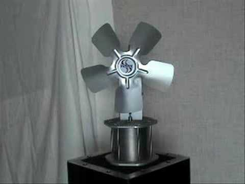 Stirling-Cycle Heat Powered Fans