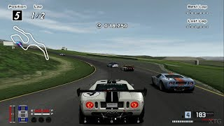 Gran Turismo 4 - Ford GT LM Race Car Spec II '04 Cockpit View PS2 Gameplay HD