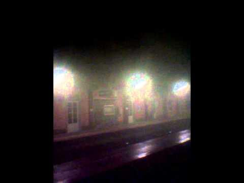 Imágenes del tren incendiado a su llegada a Betanzos-Infesta