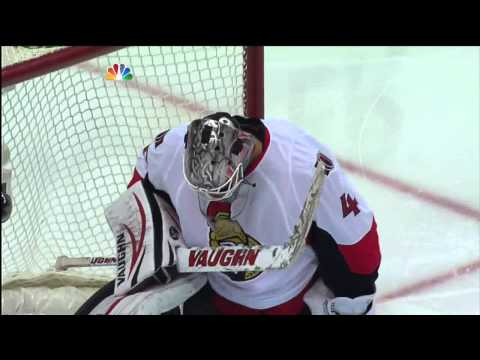 Sidney Crosby slapshot goal 3-1. Hat trick May 17 2013 Ottawa Senators vs Pittsburgh Penguins NHL