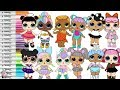 LOL Surprise Dolls Coloring Book Page Color Swap Compilation Unicorn Kitty Queen Sugar Spice mp3