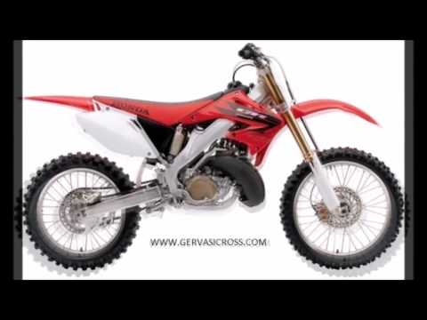 Honda Cr250 evolution from 1973 to 2007