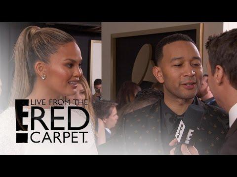 Chrissy Teigen & John Legend on Baby Advice From Kim K.   Live from the Red Carpet   E! News