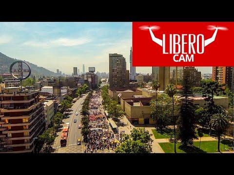Marcha de los apoderados de colegios subvencionados en la Alameda en contra de la reforma