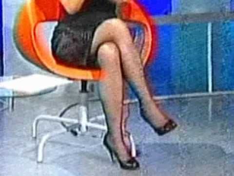 Olja Beckovic sexy crossed legs 2