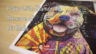 Paint With Diamonds - Beware of Pit Bulls