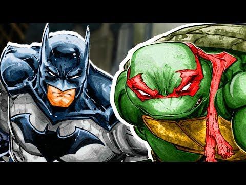 БЭТМЕН ВСТРЕТИЛ ЧЕРЕПАШЕК-НИНДЗЯ!  ЧАСТЬ 1. \ DC. IDW. Batman and Teenage Mutant Ninja Turtles