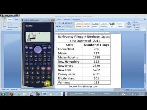 Mean and Std. Dev. on the Casio fx-300ES Calculator