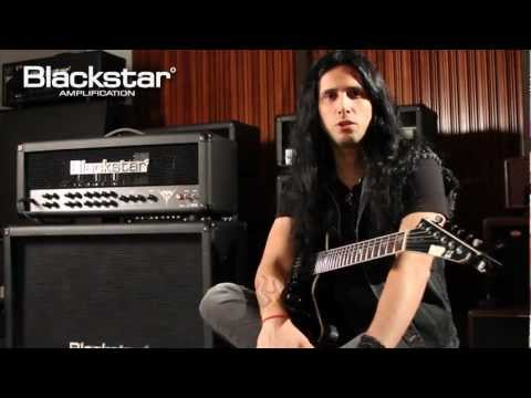 Gus G. of Ozzy Osbourne / Firewind demonstrates his new signature Blackstar Series One Blackfire 200