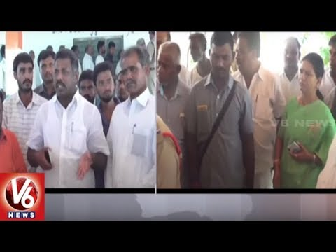Clash Between Two Groups At Rythu Bandhu Cheques Distribution Scheme | Gadwal | V6 News