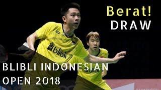 Draw Blibli Indonesian Open 2018    Indonesian Badminton Athletes