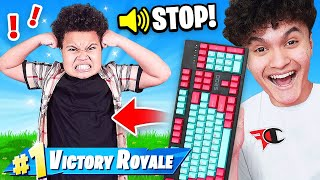 Wireless Keyboard Prank HACK on Kid Playing Fortnite (Kaylen)